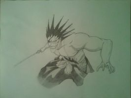 Zaraki Kenpachi on Paper by DOGGMAFFIA
