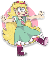 Star butterfly drawing by peanutcat62