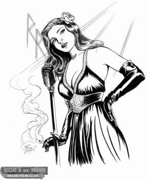 Josie Taylor -torch singer pinup by DocRedfield