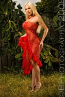 Amy Isom in red full by BPhotographic