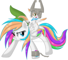 Starblaze and Toby Aventuring (Or Link and Midna?) by Lyra-Stars