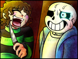 FUN AND GRATUITOUS :Undertale: Fighting Sans by The-Ironic-Monster
