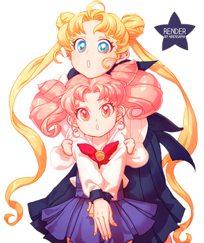 Sailor Moon Render by AirenSama