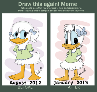 Draw This Again- Darcy Duck by trujayy