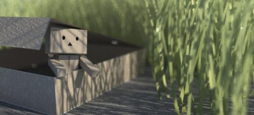 Danbo stuck in a box by goutham9986