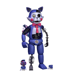 Withered Quincy Cat and his 2 lollipops (GIFT) by Leoking08
