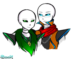 Zephyr and Chronos by SharaXOfficial
