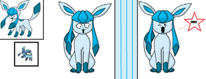 Glaceon/Temmie crossover by kill-soni