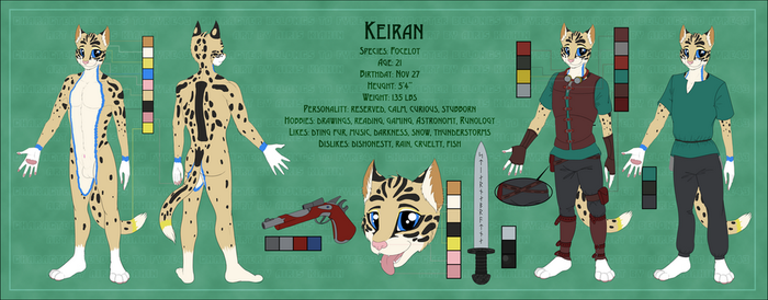 [Commission] - Keiran reference sheet by AirisKiahin