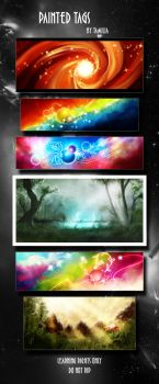 PSD-Pack Painted Tags by Tamilia