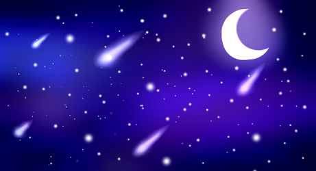 Night sky(F2U WALLPAPER BACKGROUND) by Crystal-BloomYT