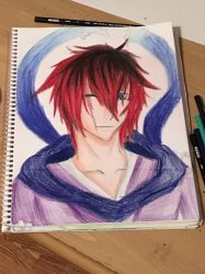 Traditional drawing of the ninja by Tinytigers11