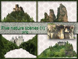 Five nature scenes (3) by roula33