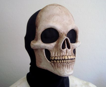 Painted Grave Skull Mask by Nightlyre
