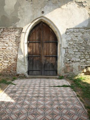 wooden church door 3 by dreamlikestock