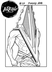 InkTober #27 - Pyramid Head - Silent Hill 2 by Allan-Fiori