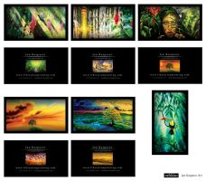 Jan Kasparec -visual artist -set 6 business cards by R1Design