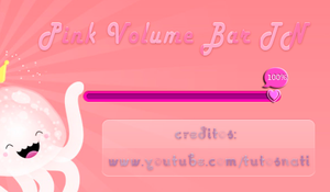 Pink Volume Bar TN [XWIDGET] by TutosNatiSUB