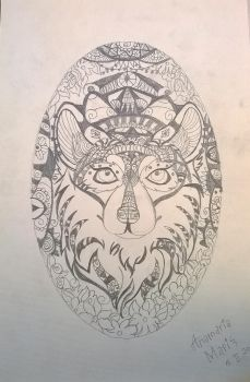 Abstract Tribal Wolf by magicalnightstars