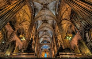 Cathedral in Barcelona by Amrahelle