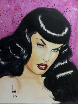 Bettie Page by LouPons