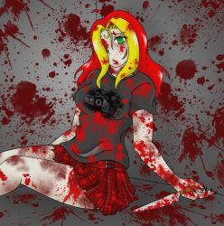 Bloody and Broken by Kitten-Skull