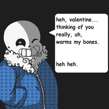 Valentines Day 2016 / Sans Card V2 by sunnydongle