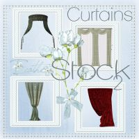 Curtains 20 stock pack by Ecathe