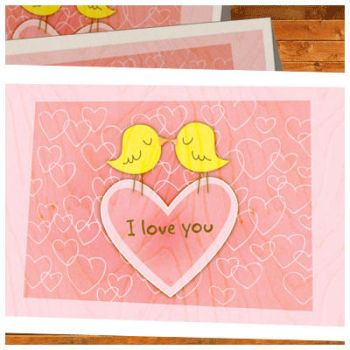 Birdie Love You cards by arwenita