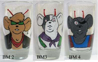 Biker Mice from Mars glass design #2 by notoes