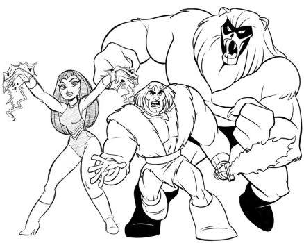 Thundarr, Ookla and Ariel by tombancroft