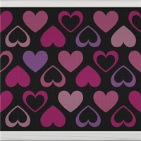 Hearts (black) by Rosemoji