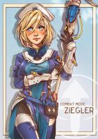 Combat Medic Ziegler(Mercy) by west-24