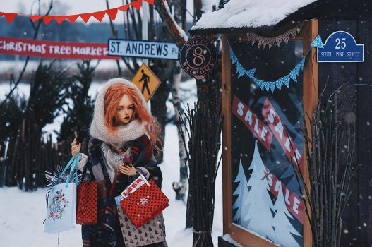 on the winter street IV by AzureFantoccini