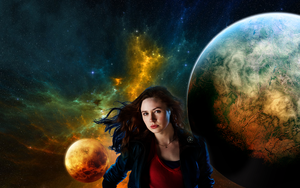 Wallpaper: Amy Pond, Companion by JESSICAATK