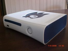 Sonic hedgehog custom xbox by EGGMAN-X