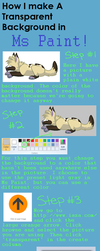 Ms Paint transparent background tutorial by Wickerish
