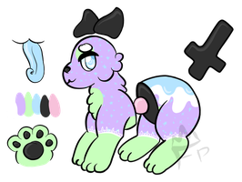 [closed] flatsale - pastel goth ourie by felinescribbles