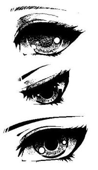 MS Paint Sketch: Anime Eye Practice by Ettesore