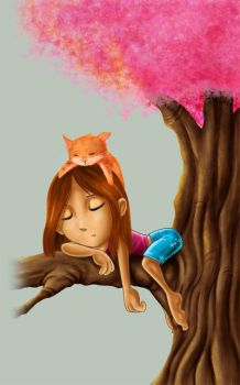 Sleeping on a tree by bbarata