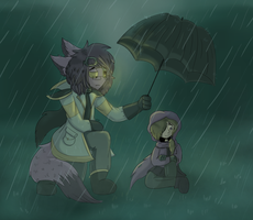 The Rain Will Wash The Sadness Away... (Redraw) by KateTheArtisticFox