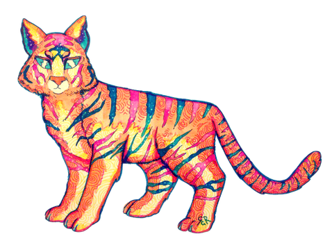 Tiger-Cat from the Same Forest by Vexkex