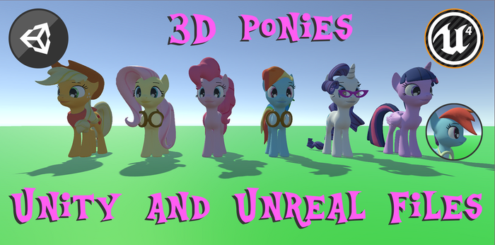 3D Pony Models for Unity and Unreal Engine by diaperand