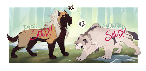 Smilodon Adopts [AUCTION -- CLOSED] by Machati