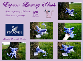 Espeon Luxury Plush by Ishtar-Creations