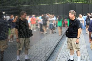 Dad at the Vietnam memorial by HalfBloodDragon