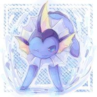 .vaporeon by Effier-sxy
