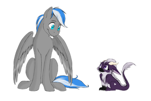 Cloud Meets Lyroo By Sketchydoodlepony by Cloudzapper8