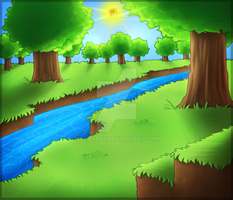 Minecraft River by Exunary