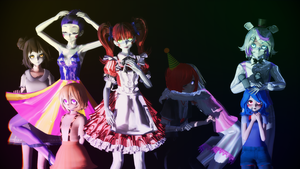 [MMD] Sister Location pack DL DOWN FOR NOW by yuyuchanHD